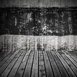 Abstrakt töm ruminre, betongvägg Arkivbild