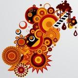 Abstrakt  tło z różnymi projektów elementami Obrazy Stock