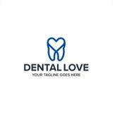 Abstrakt tand- materiel för vektor för förälskelseomsorgsymbol Royaltyfri Fotografi