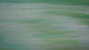 Abstrakt tapet av olje- målning med borsteslaglängder i grön färg Fotografering för Bildbyråer