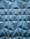 Abstrakt tapet eller geometrisk bakgrund som består av blåa geometriska former: trianglar och polygoner Royaltyfri Bild
