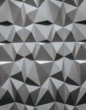 Abstrakt tapet eller geometrisk bakgrund som består av svartvita geometriska former: trianglar och polygoner Royaltyfri Fotografi