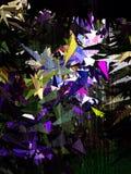 Abstrakt tapet för polygon för blått för vit för triangellilagräsplan Arkivbild
