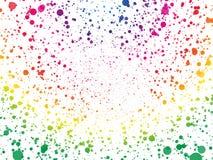 Abstrakt tapet för spektrumfärgprickar vektor illustrationer