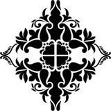 Abstrakt tappning blommar med en kurvmodell för websitebakgrund avskiljer tapeten, skärm, bokomslag, skärmprinting Royaltyfri Foto