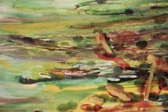 abstrakt tappning för bakgrundsillustrationvektor Vax, målarfärg och hypnotiska färger Royaltyfri Bild