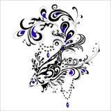 Abstrakt tatueringfisk, vektorillustration Royaltyfria Bilder