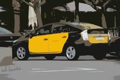 Abstrakt taxi Arkivfoto