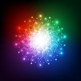 Abstrakt tech för auraljusnätverk, vektorbakgrund Royaltyfria Foton