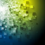 Abstrakt tech kvadrerar vektordesign Arkivfoton