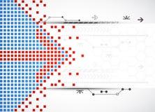 Abstrakt technologii kwadratowy tło ilustracja wektor