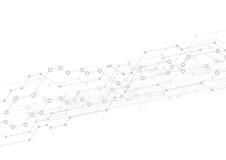 Abstrakt technologii lekki tło z obwodem ilustracji