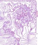 abstrakt teckning Arkivfoton