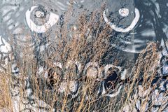 Abstrakt teckning av en ruskig fysionomi Fotografering för Bildbyråer