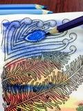 Abstrakt teckning i stilen av zenart Arkivbilder