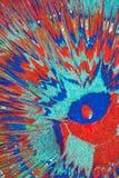 Abstrakt teckning med akrylmålarfärger på kanfas Royaltyfri Bild