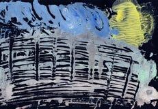 Abstrakt teckning med vattenfärgmålarfärg Royaltyfri Bild