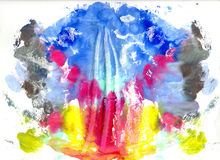 Abstrakt teckning med vattenfärgmålarfärg Royaltyfri Foto