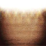 Abstrakt tegelstenbakgrund oskarpa ljusa effekter royaltyfri illustrationer