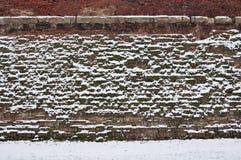 abstrakt tegelstenvägg Arkivfoto
