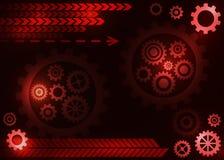 Abstrakt teknisk bakgrund med kugghjul Arkivfoto