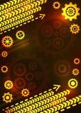 Abstrakt teknisk bakgrund med kugghjul Fotografering för Bildbyråer
