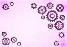 Abstrakt teknisk bakgrund med kugghjul Royaltyfri Bild