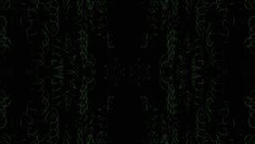 Abstrakt tekniskt felefterföljdljus läcker holographic bakgrund stock video