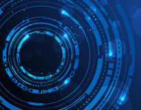 Abstrakt teknologi cirklar bakgrund Arkivbild
