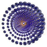 Abstrakt teknologi cirklar tecknet Royaltyfri Foto