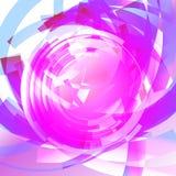 Abstrakt teknologi cirklar vektorbakgrund Arkivfoto
