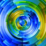 Abstrakt teknologi cirklar vektorbakgrund Royaltyfri Fotografi