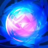 Abstrakt teknologi cirklar vektorbakgrund Royaltyfria Foton