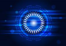 Abstrakt teknologi för cirkel med strömkretslinjen vektor Royaltyfri Illustrationer