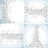 Abstrakt teknologibakgrund Fotografering för Bildbyråer