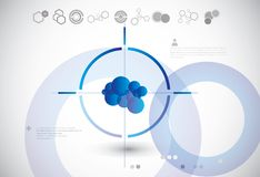 Abstrakt teknologibakgrund Royaltyfri Fotografi