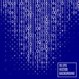 Abstrakt teknologibakgrund för binär kod stock illustrationer