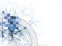 Abstrakt teknologibakgrund för is med linjer textur av för Arkivbild
