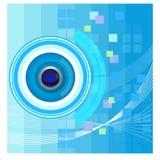 Abstrakt teknologibakgrund - illustration Arkivfoton