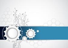 Abstrakt teknologibakgrund med olika teknologiska beståndsdelar, vektorillustration Arkivfoton