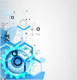 Abstrakt teknologibakgrundsaffär & utveckling Arkivfoton