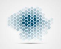 Abstrakt teknologibakgrundsaffär & utveckling Royaltyfri Fotografi