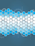 Abstrakt teknologibakgrundsaffär & utveckling Arkivbild