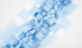 Abstrakt teknologibakgrundsaffär & utveckling Royaltyfria Bilder