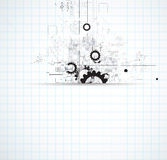 Abstrakt teknologibakgrundsaffär & utveckling Arkivfoto