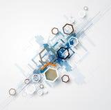 Abstrakt teknologibakgrundsaffär & utvecklingsriktning Arkivbild