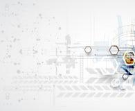 Abstrakt teknologibakgrundsaffär & utvecklingsriktning Arkivbilder