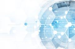 Abstrakt teknologibakgrundsaffär & utvecklingsriktning