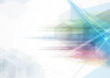 Abstrakt teknologibakgrundsaffär & utvecklingsriktning Royaltyfri Fotografi