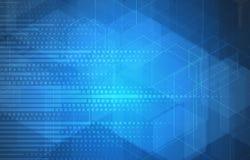Abstrakt teknologibakgrundsaffär & utvecklingsriktning Royaltyfri Bild